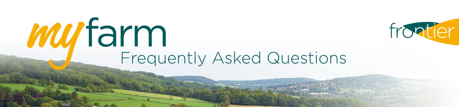 MyFarm FAQs webheader