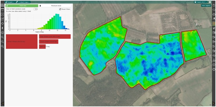 SOYL and Claas make yield data analysis easy map