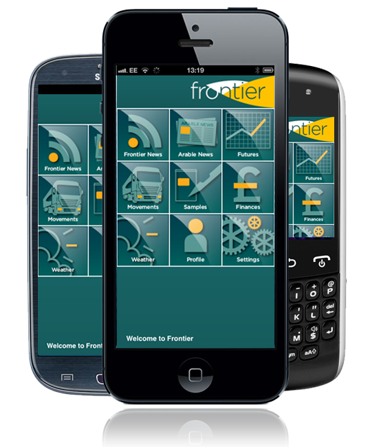 Frontier App on iPhone, Android, Blackberry